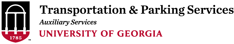 Parking and Transportation Services at the University of Georgia Logo
